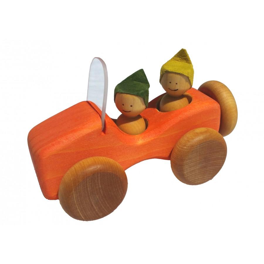 jeep vintage orange voiture bois premier jouet fait au quebec auto garcon 2 3 ans. Black Bedroom Furniture Sets. Home Design Ideas
