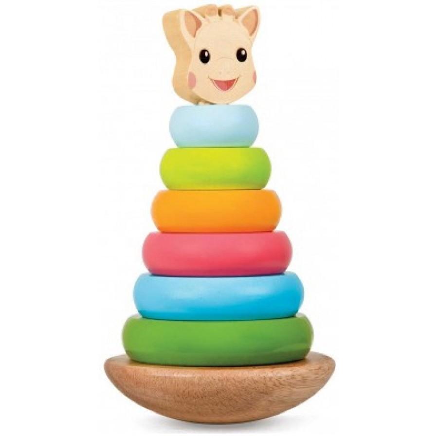 Sophie girafe anneaux empilable jouet bebes fille garcon - Jouet en bois enfant ...