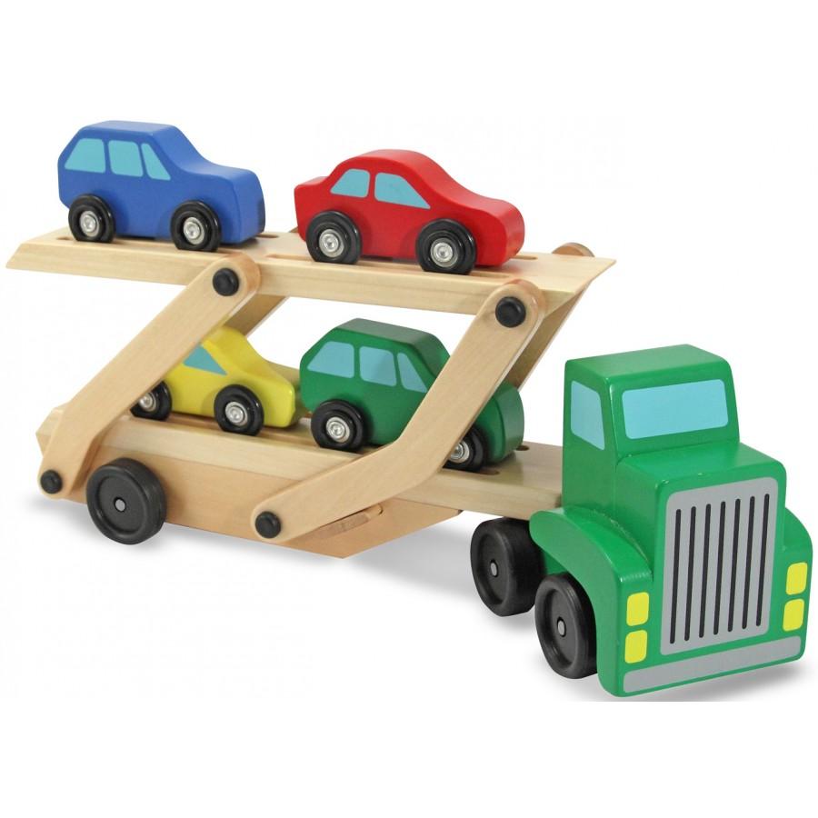 camion-transporteur-voitures-bois-melissa-doug-jouet ...
