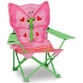 Chaise pliante pour enfants papillon rose melissa doug - Chaise pliante rose ...