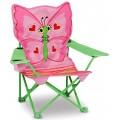 Chaise pliante pour enfants papillon rose melissa doug - Chaise pliante rose ...