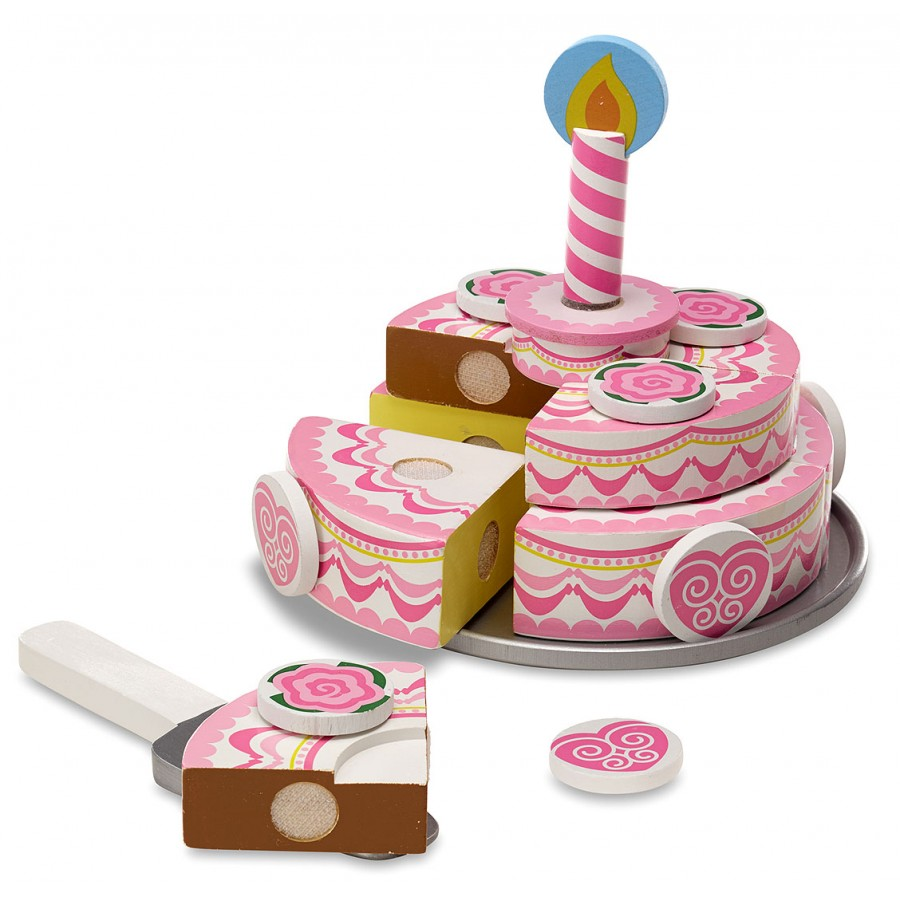 gateau rose fille d anniversaire fete trancher melissa. Black Bedroom Furniture Sets. Home Design Ideas
