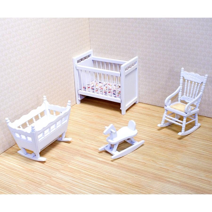 Maison poupee meuble chambre bebe enfants victorienne 6 7 for Maison de valerie meuble