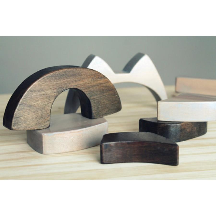 casse t te de blocs en bois raton laveur jouets fait au qu bec enfants id e cadeau atelier. Black Bedroom Furniture Sets. Home Design Ideas