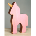 Pink Wooden Unicorn