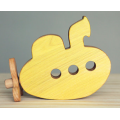 Yellow wooden submarine