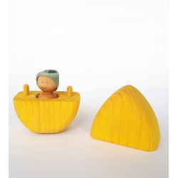Wooden Easter Egg - Yellow