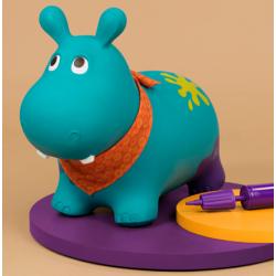 ballon sauteur hippopotame btoys sauter gonfler rebondit rebondissant actif gonflable. Black Bedroom Furniture Sets. Home Design Ideas
