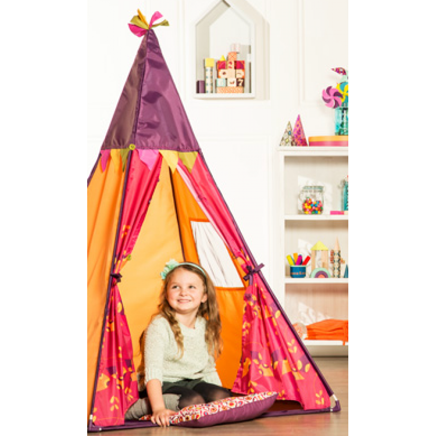 tipi rose et orange btoys enfants tente cachette teepee tepee maison aventures. Black Bedroom Furniture Sets. Home Design Ideas
