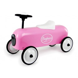 porteur voiture de course rose en m tal petite voiture enfants b b s baghera trottinette. Black Bedroom Furniture Sets. Home Design Ideas