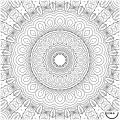 Nappe à colorier - Mandala