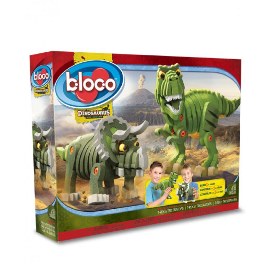 Dinosaures dinosaure t rex triceratops tyrannosaure bloco construction jeu mousse julie jouets - Jeux lego dino ...