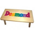 "Personalized Wooden Stool ""Bright colors"""