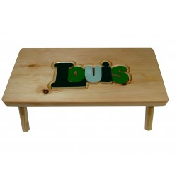 "Personalized Wooden Stool ""Green Tones"""