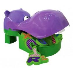 Hippopotame égoutteur de jouets de bain avec filet