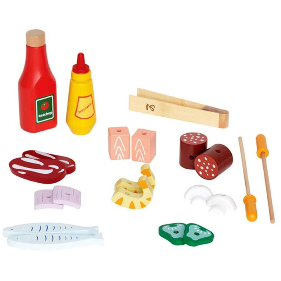 Bbq sur pied barbecue gril pour gourmet jouet bois jeux cuisine cuisinette four fille - Jeux enfant cuisine ...
