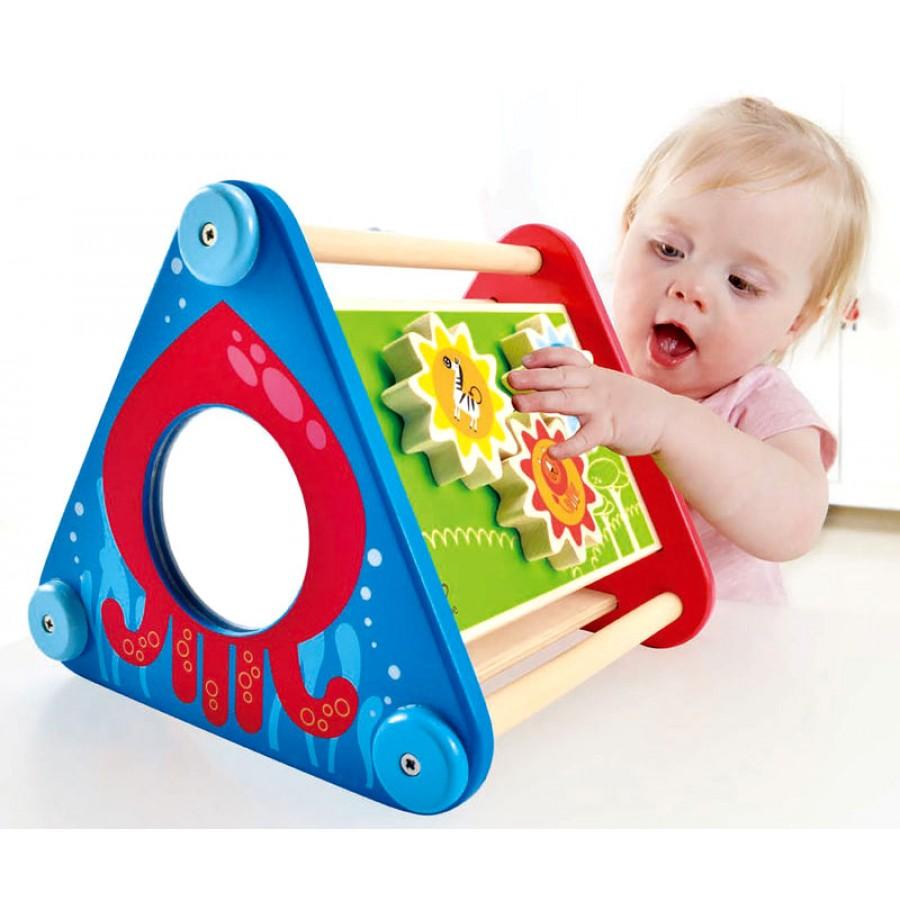 bo te d 39 activit s portative en bois hape jouets cube. Black Bedroom Furniture Sets. Home Design Ideas