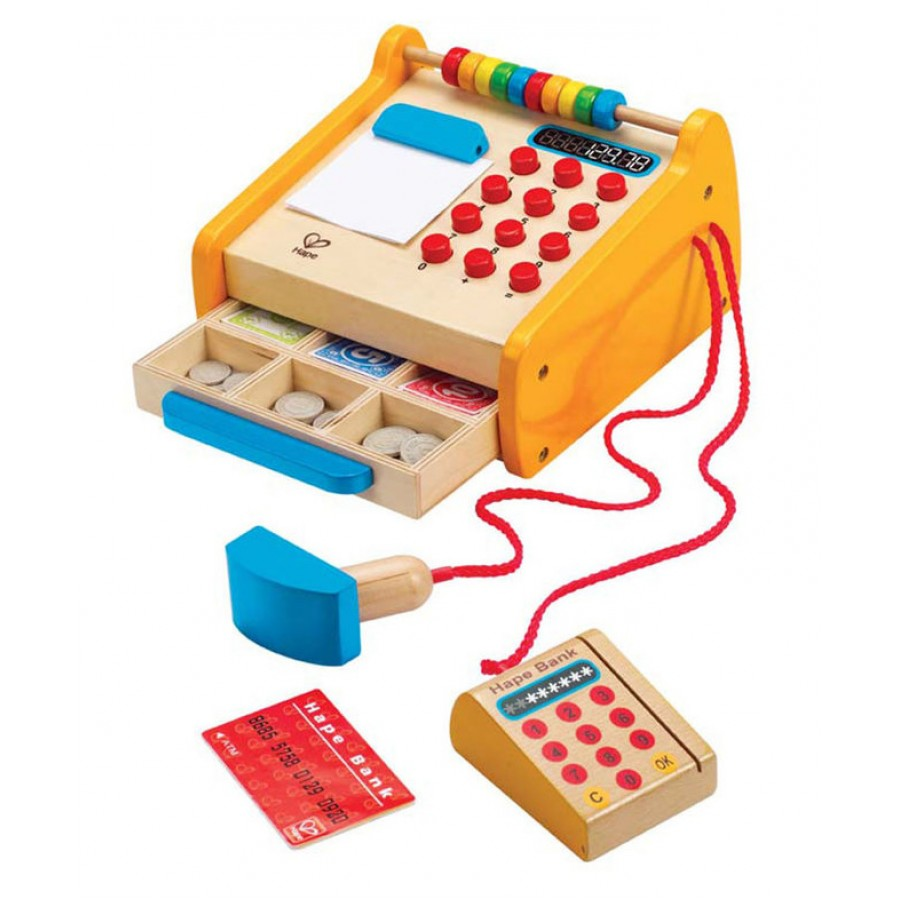 Cash Register Wooden Toy Hape Kids Play Money