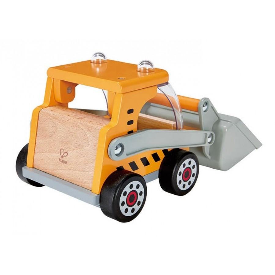 Camion pelleteuse jouet en bois hape tracteur for Pelleteuse jouet exterieur