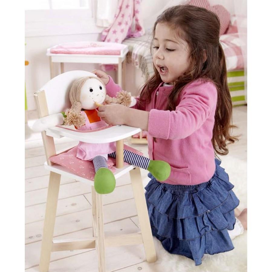 Chaise haute pour b b en bois hape enfants jouet - Chaise de bebe pour manger ...