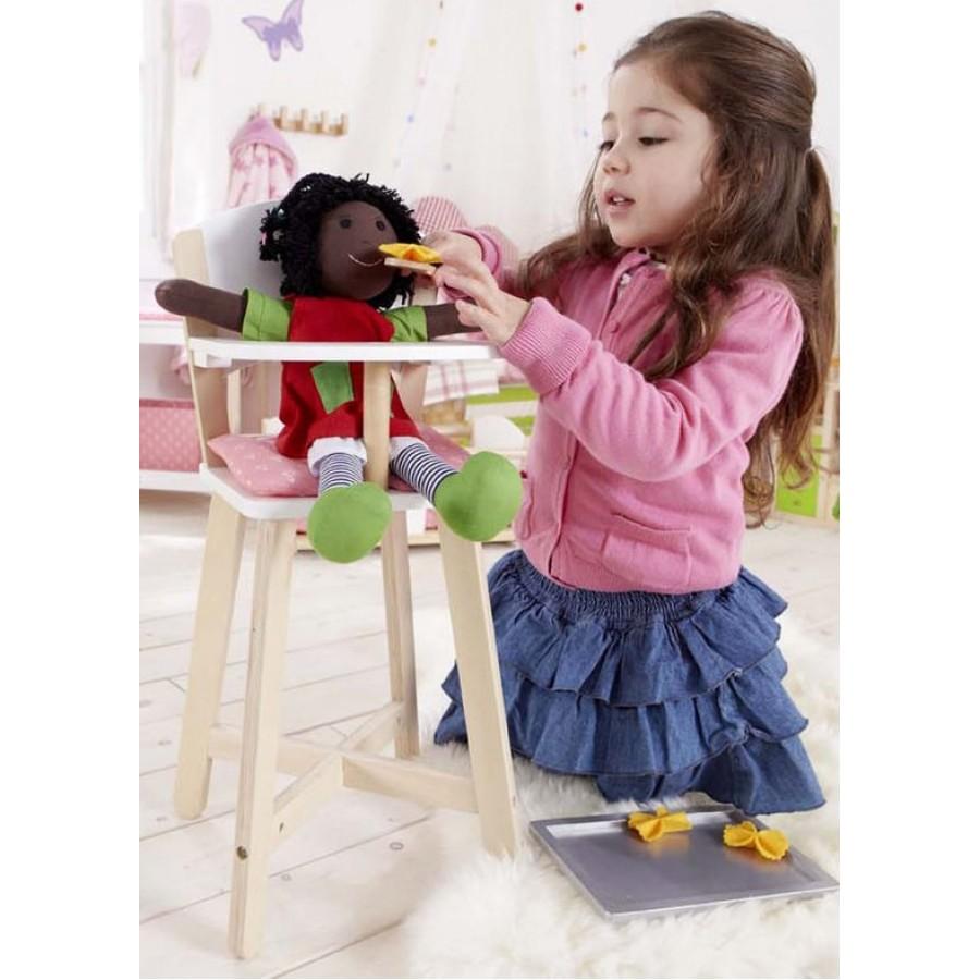 chaise haute pour b b en bois hape enfants jouet jeux 3 4 5 6 ans fille poup e. Black Bedroom Furniture Sets. Home Design Ideas