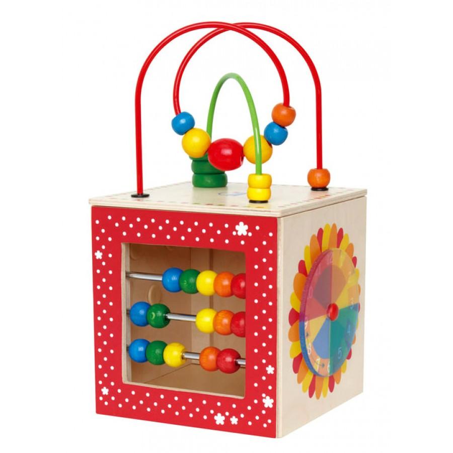 cube d 39 activit s d couverte en bois bo te hape jouets b b s cpe garderie labyrinthe. Black Bedroom Furniture Sets. Home Design Ideas