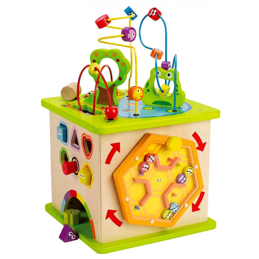 cube d 39 activit s g ant en bois hape jouets b b s cpe. Black Bedroom Furniture Sets. Home Design Ideas