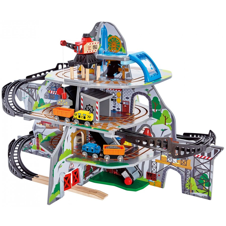 mighty mountain mine hape made in wooden wood toys kids train choo choo. Black Bedroom Furniture Sets. Home Design Ideas