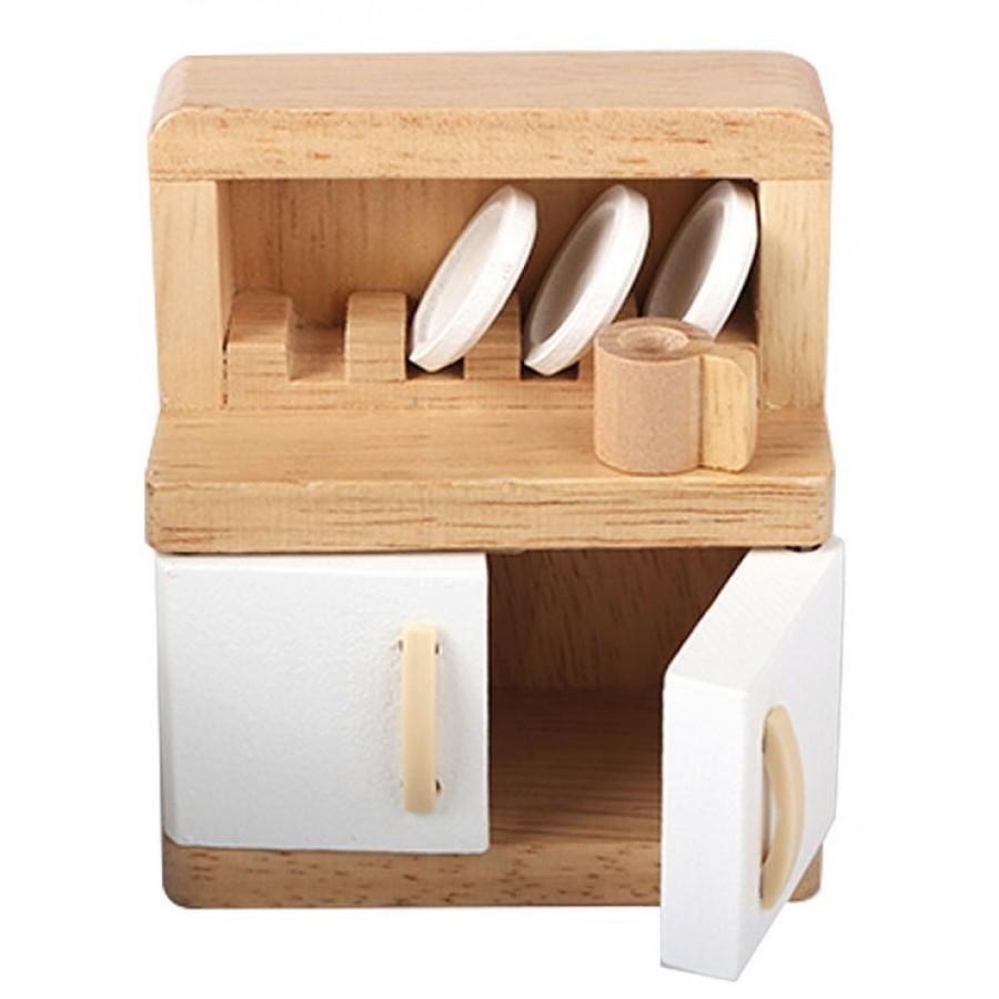 meuble de salle manger pour maison de poup es hape fait en bois table chaises buffet. Black Bedroom Furniture Sets. Home Design Ideas