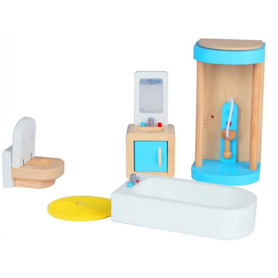 Meuble de salle de bain pour maison de poup es hape fait for Meuble salle de bain douche