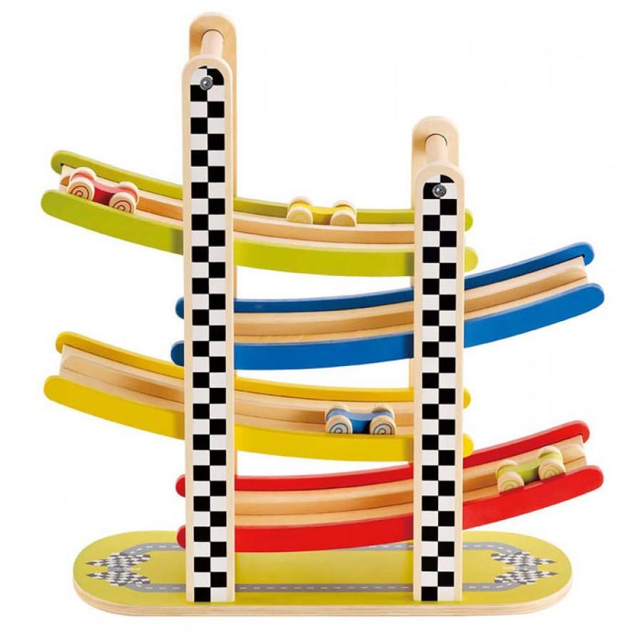 piste g ante de voiture de course jouets en bois gar on. Black Bedroom Furniture Sets. Home Design Ideas