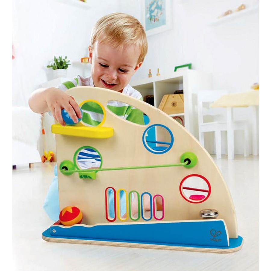 labyrinthe de balles pour b b s jouets en bois parcours billes enfants 1 an 12 mois. Black Bedroom Furniture Sets. Home Design Ideas