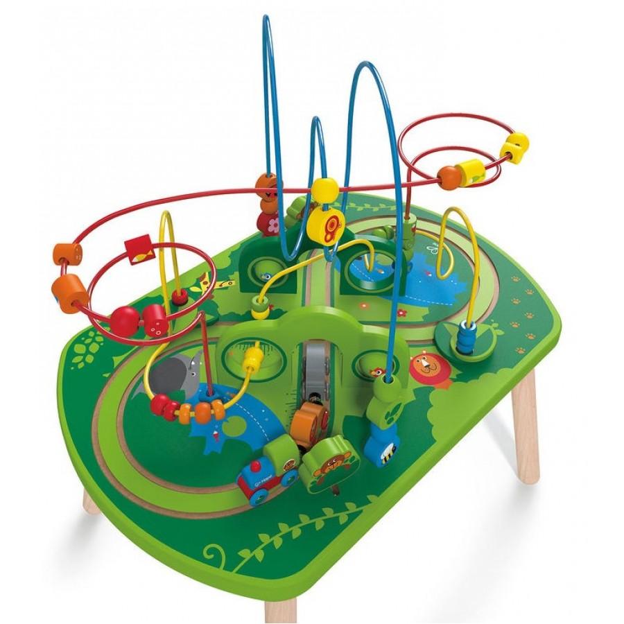 table d 39 activit un train dans la jungle hape jouet en. Black Bedroom Furniture Sets. Home Design Ideas