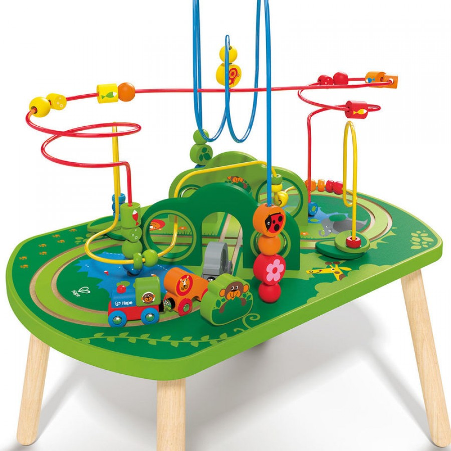 table d 39 activit un train dans la jungle hape jouet en. Black Bedroom Furniture Sets. Home Design Ideas