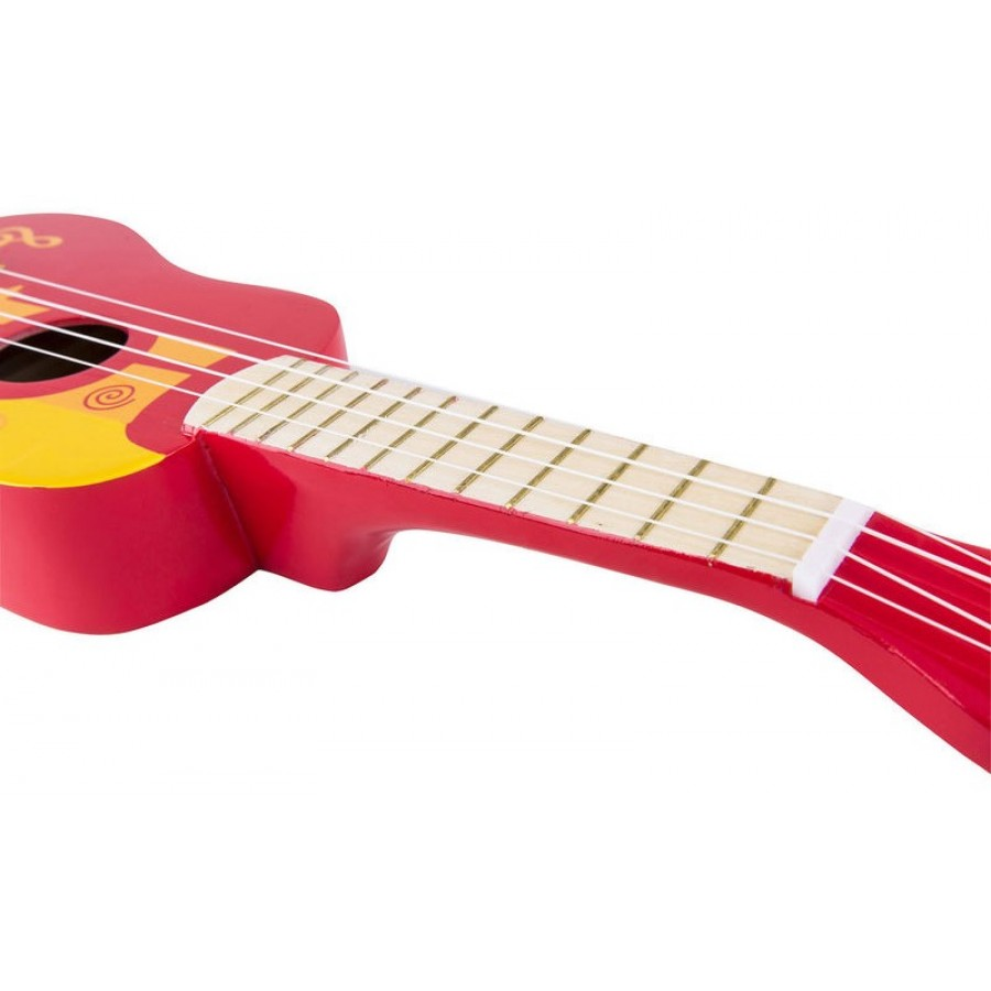 Red Ukulele Hape Music Musical Kids Play Toys Learn Sound