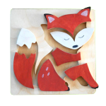 "Wooden puzzle ""The Fox"""