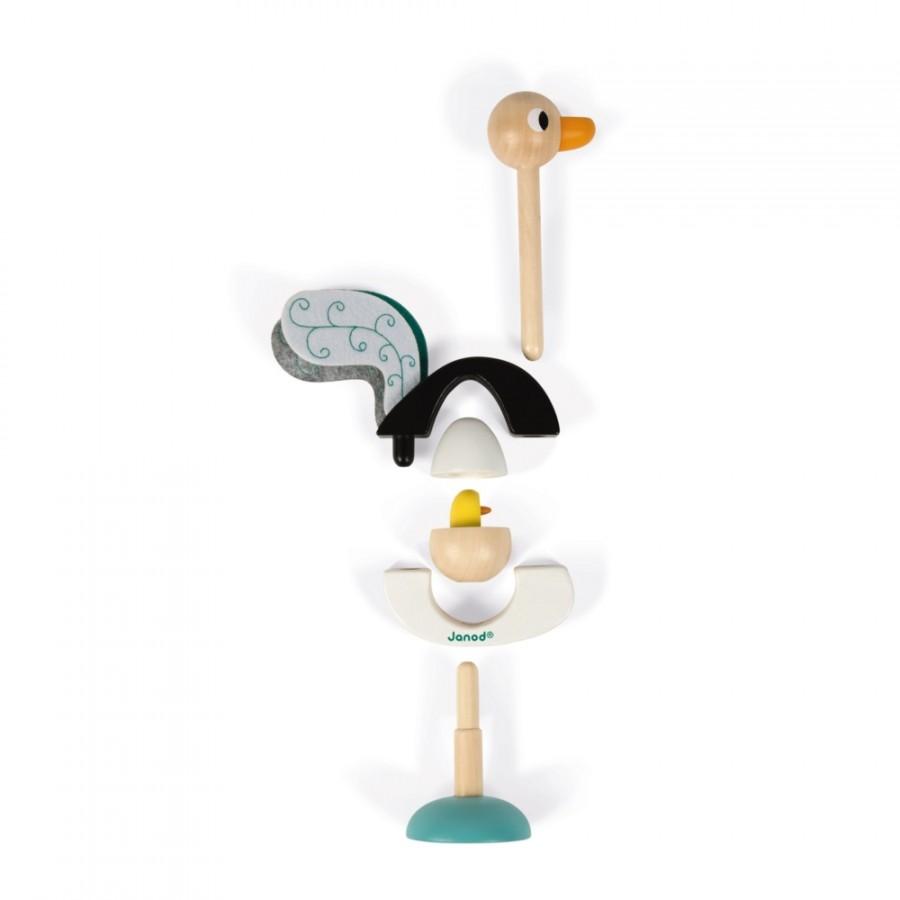 Autruche empilable zigolos jouets pour enfants en bois - Autruche bebe ...
