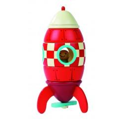 Petite fusée rouge magnétique - Janod
