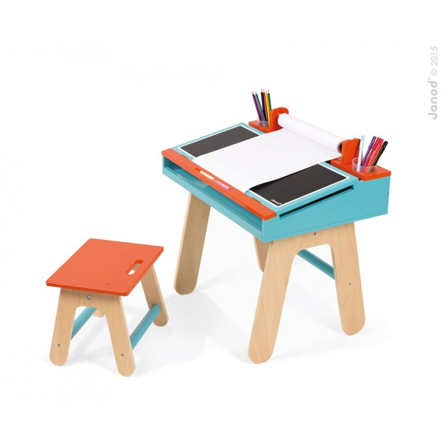 Desk and easel 2 in 1, Janod