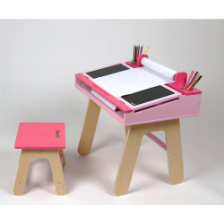 Desk and easel 2 in 1
