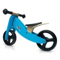 Tricycle convertible bleu 2 en 1 en bois