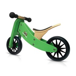 Tricycle convertible vert 2 en 1 en bois