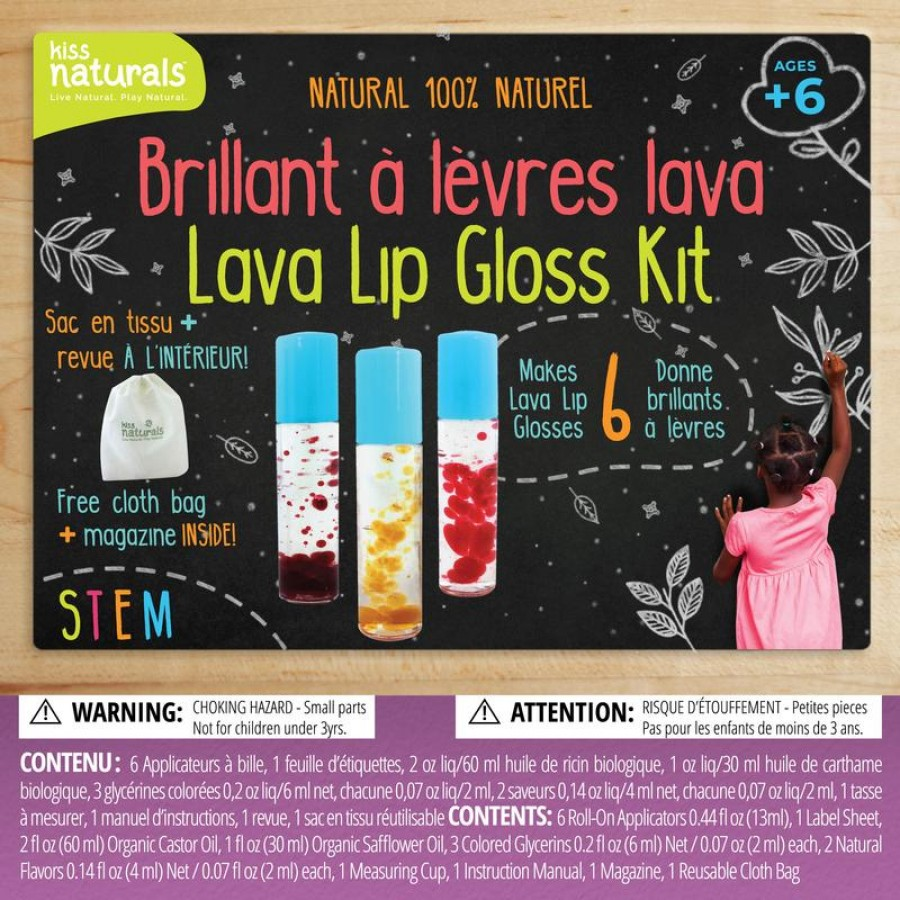 Faire Un Sac A Jouets En Tissu lava lip gloss kit, diy, make your own, kiss naturals, natural