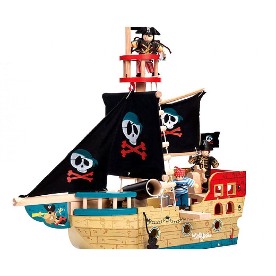 Grand bateau pirate en bois le toy van boulet canon - Image bateau pirate ...