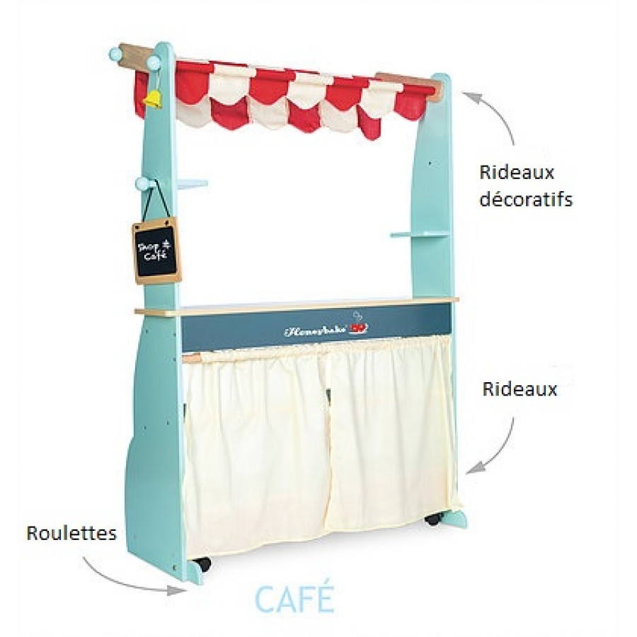 boutique et caf en bois kiosque vente jouets en bois picerie cuisine cuisinette. Black Bedroom Furniture Sets. Home Design Ideas