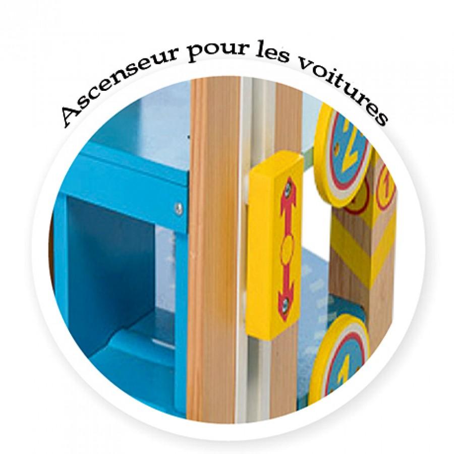 Garage 224 233 Tage En Bois Pour Petites Voitures Le Toy Van