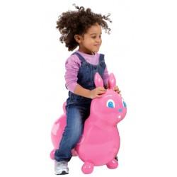 Raffy le lapin sauteur rose - Ballon gonflable pour sauter
