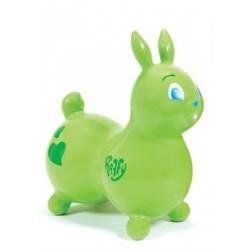Raffy le lapin sauteur vert - Ballon gonflable pour sauter
