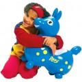 Rody le cheval sauteur bleu - Ballon sauteur à gonfler