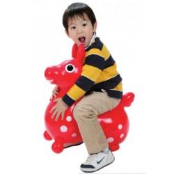 Rody le cheval sauteur rouge - Ballon sauteur à gonfler